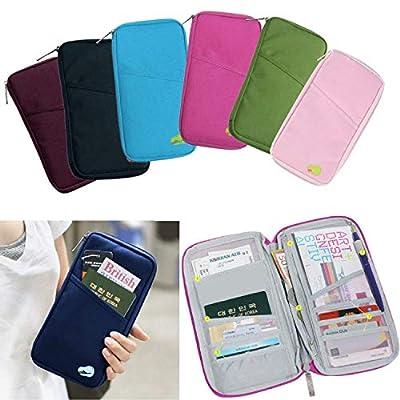 349b8d9d46b4 Okayji Multi-Functional Passport Holder Wallet,Credit Card ID Document  Organizer Bag, Travel Wallet Envelope Flip Cover Case Pouch for Men &  Women, ...