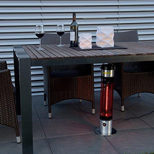 Semptec Tisch-Heizstrahler: Wetterfester 360°-IR-Standheizstrahler/Heizsäule IRW-800, IP55, 800W (Beistell Heizstrahler) - 2