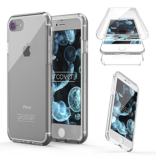 "Urcover Touch Case 2.0 kompatibel mit Apple iPhone 7 Hülle ""Unbreakable Case bekannt aus Galileo I 360 Grad Rundum-Schutz Cover I Crystal Clear Full Body Cover I Schale Handy-Hülle Transparent"
