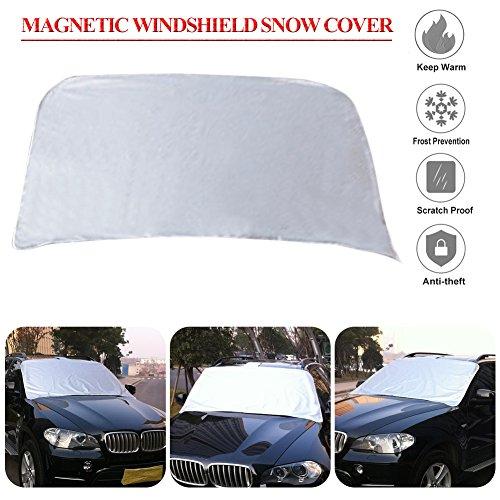 Magnetico-parabrezza-anteriore-Snow-di-copertura-per-parabrezza-auto-Protector-Fits-most-auto-camion-SUV-1473-x-1016-cm
