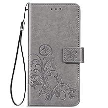 Hoesje voor Xiaomi Redmi 9A Flip PU Lederen Portemonnee Etui Hoezen Protector met Magnetische Houder Shock Proof Telefoonhoes voor Xiaomi Redmi 9A - DESD070442 grijs