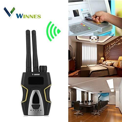 Detector de Señal RF Detector de GPS Detector Cámaras Ocultas Detector Microfonos Ocultos Detector de Microsensor para Cámara Oculta Buscador de Dispositivos GSM(Plateado)