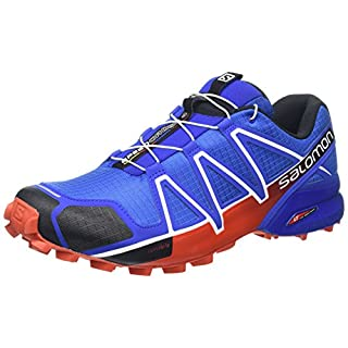 Salomon Herren Speedcross 4 Traillaufschuhe, Blau (Yonder/Black/Lava Orange), 42 EU