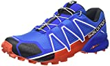 Salomon Speedcross 4 Herren Trailrunning-Schuhe, Blue Yonder/Black/Lava Orange, 42 EU