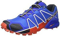 Salomon Speedcross 4 Herren Trailrunning-schuhe, Blue Yonderblacklava Orange, 45 13 Eu