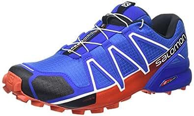 Salomon L38313000, Scarpe da Trail Running Uomo, Blu (Blue Yonder/Black/Lava Orange), 40 EU