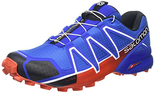 Salomon L38313200, Zapatillas de Trail Running para Hombre, Azul (Blue Yonder / Black / Lasa Orange), 42 2/3 EU