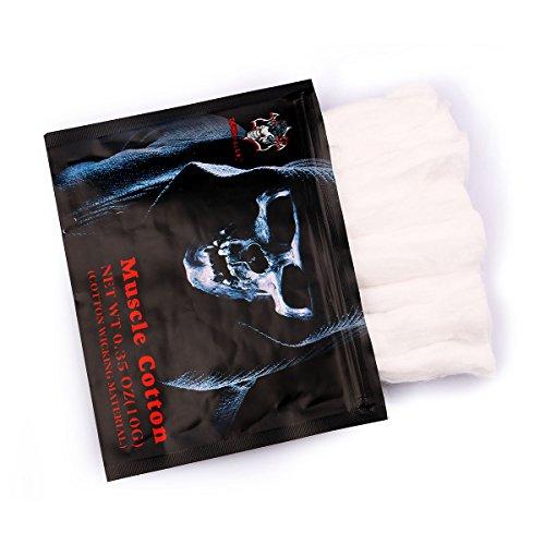 Vape Cotton, Elektronische Zigarette Wick, Vaping Baumwolle für RBA / RTA / RDA Zerstäuber, extrem saugfähig haltbar Cotton 10 Stück