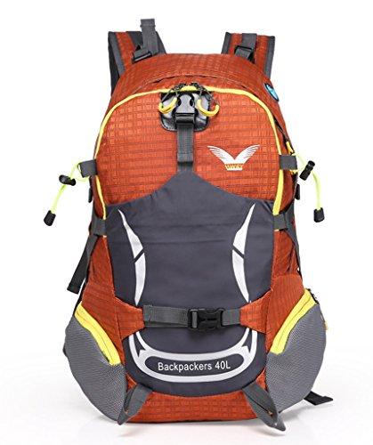 Peiji Unisex-Erwachsene Trekkingrucksack Gelb gelb Orange - orange
