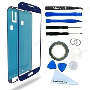 Samsung Galaxy S4 i9500 i9505 Display Touchscreen Frontglas mit Werkzeug-Set zum Wechsel des Frontglases Inkl Pre Cut Sticker/ Pinzette / Rolle 2mm Klebeband / Saugnapf / Draht / Mikrofasertuch MMOBIEL