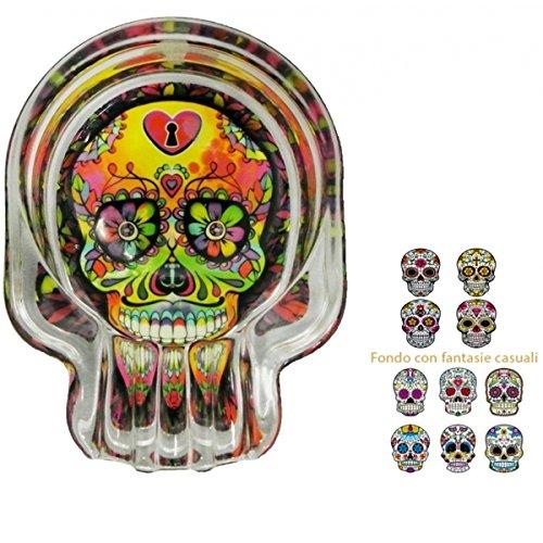 TrAdE shop Traesio cenicero Calavera mexicano multicolor 9,5x...