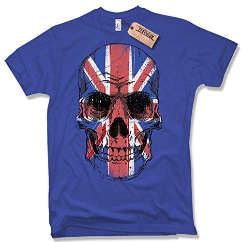 UNION JACK SKULL T-Shirt, Totenkopf, UK, verschiedene Farben, Gr. S
