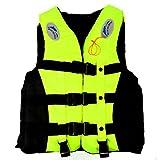 S-3XL Adult Life Jacket Lifesaving Swimming Boating Sailing Vest + Whistle Blue