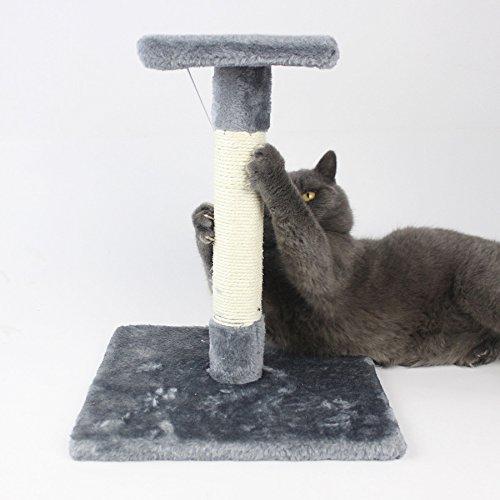 LDFN Katze Kletterrahmen Sisal Katze Scratch Board Scratching Katze Katze Spielzeug Katze Katze Jumping Katze Kratzbaum,Gray-30*30*37cm