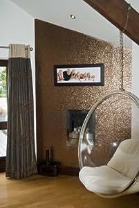 Glitter wallpaper bronze price per metre for Wallpaper emmerdale home farm