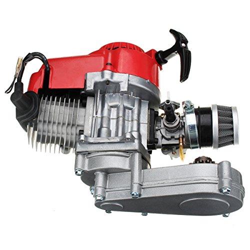 Preisvergleich Produktbild JenNiFer 49Cc Motor 2-Stroke Pull Start Mit Übertragung Für Mini Moto Dirt Bike Red