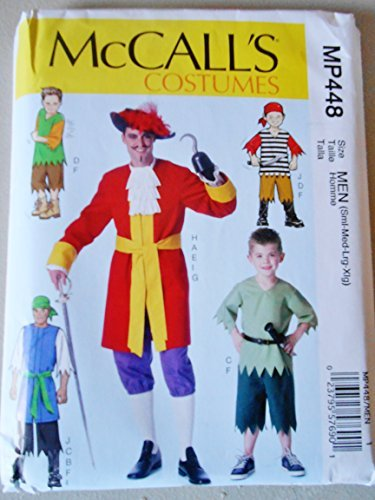 McCall's Sewing Pattern MP448 Men's & Boy's Halloween Pattern Peter Pan & Captain Hook by McCall's