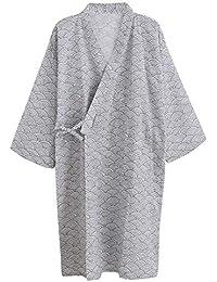 Cotton Kimono Robe Wrap Women Men Bathrobe Dressing Gown Pajamas Yukata  Nightdress Loose Comfy Sleepwear Bath Wrap Spa… 12a76bc31