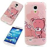 Handy Lux® Schutz Hülle Etui Silikon TPU Case Cover Design Motiv für Samsung Galaxy E5 - Bear Bärchen Rosa