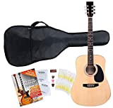 Classic Cantabile guitare acoustique folk set démarrage incl. kit d