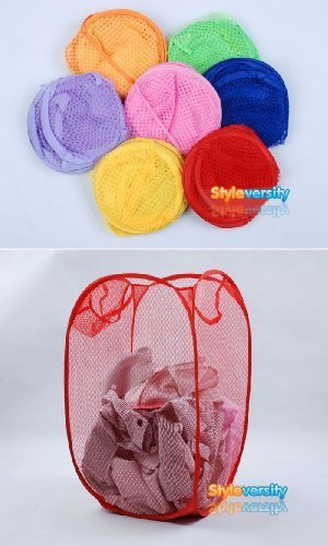 Foldable Pop Up Mesh Washing Laundry Basket Bag Bin Hamper Toy Tidy Storage (Toy Storage Bin)