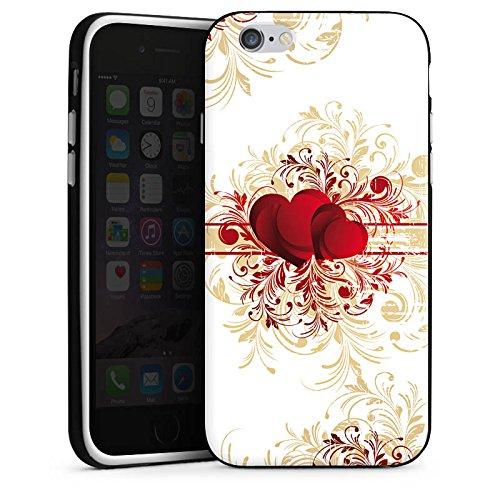 Apple iPhone X Silikon Hülle Case Schutzhülle Silent Love Muster Herz Silikon Case schwarz / weiß