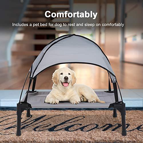 Cama para Mascotas elevada para Perros Transpirable Cama para Uso Interior y Exterior, 60 × 47.5 cm