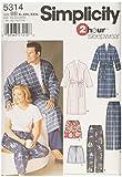 Semplicità 5314 BB - modelli di cucito per pigiami e accappatoi (grandi dimensioni)