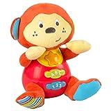 Winfun - Peluche Mono para bebés que habla & luces de colores - Idioma: español (ColorBaby 85174)
