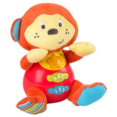 Winfun - Peluche Mono bebés habla & luces colores