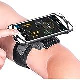 Newpon 180 Drehbares Laufen Sportarmband Handy :mit Schlüsselhalter für Apple iPhone XS Max XR X 8 7 6 6S Plus Samsung Galaxy