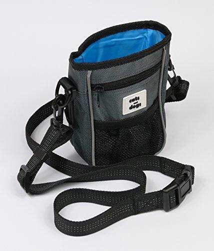 Futtertasche / Spielzeugtasche für Hunde und Pferde mit neuartigem Magnetverschluss, Reflektoren am Hüftgurt / Schultergurt für mehr Sichtbarkeit im Dunkeln, Hundetasche aus strapazierfähigem Material