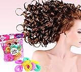 nalmatoionme Frisur Maker Donut Sticks Rollen Kreis Spirale Kunststoff Hair Curl Rolle Ringel Wave Hair Tools