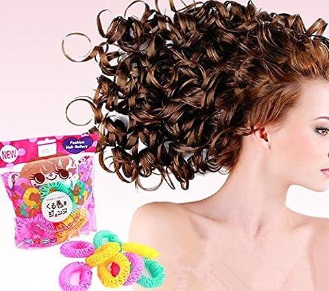 nalmatoionme Coiffure Donut Maker de bigoudis cheveux Curl Rouleau en plastique Cercle spirale Ringlets Wave Hair