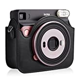 Fintie Protective Case for Fujifilm Instax Square SQ6 Instant Film Camera - Premium PU Leather Bag Cover with Removable/Adjustable Strap, Black