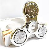 WOBBOX Chrome Fidget Spinner High Speed 1-3 Min Smooth Spin Sliver