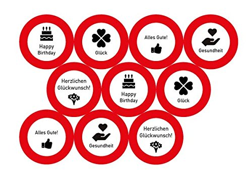 23-tlg. Partyset 60. Geburtstag Dekoset Dekobox – Verkehrschild – Girlanden, Luftballons - 7