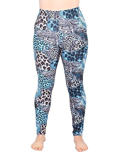 Leggins Damen Leggings leggings mit Muster bunt schwarz weiß elastisch 455 lang ( 7 / S/M ) - 2