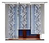 HAFT® Flächenvorhang kurz, Panel kurz, Schiebevorhang kurz, mit Tunneldurchzug Gardine, Vorhang (120 x 60 cm)