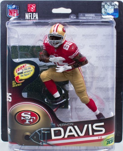 Niner Jersey (Vernon Davis #85 Red Jersey Action Figure Debut San Francisco 49'ers Forty Niners Red Jersey McFarlane NFL Series 32 by Unknown)