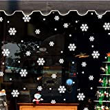 Etiqueta de la pared de BaZhaHei, Pegatinas de ventana de pared Angel Snowflake Christmas Xmas
