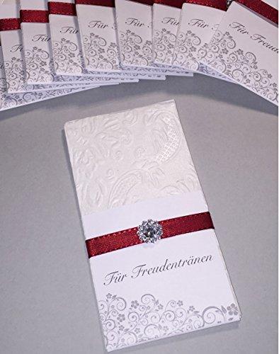 Taschentücher Freudentränen Hochzeit TT0052 pearl bordeaux