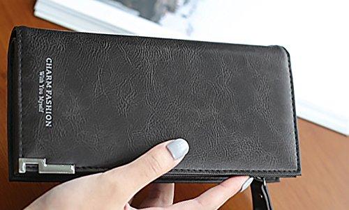 CLOTHES- Borsa a mano multifunzionale della borsa del telefono mobile di grande formato della signora lunga della sezione delle signore della borsa della signora ( Colore : Rosa ) Nero