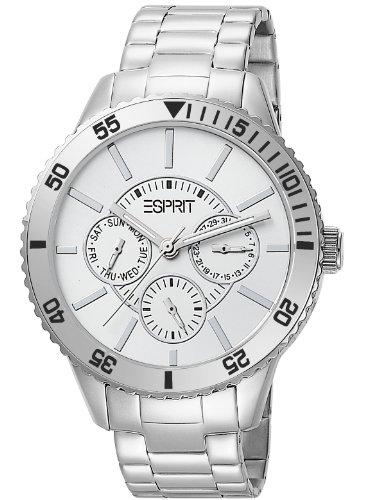 Esprit Marin Speed Analog White Dial Women's Watch - Silver