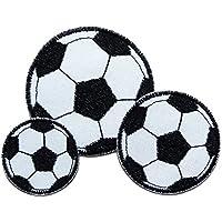 Set 3 Fußball Patches Bügelbilder Junge
