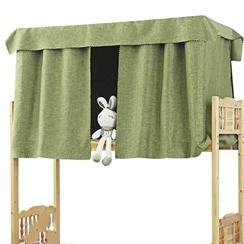 YJZQ Bettvorhang Baumwolle Etagenbett Stoffvorhang Studentenwohnmein Moskitonetz Lichtdicht Vorhang Mückennetz für Hochbett Kinderbett, 1.2 x 2.0 M(1pcs) - Schlafzimmer Baldachin Möbel
