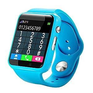 Chenang Smartwatch für Kinder,Wasserdicht IP67 Fitness Uhr Health & Fitness Armband mit GPS Unterstützung SMS SNS Anruf Erinnern Kompatibel mit Android IOS