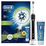 Oral-B Pro 750 Elektrische Zahnbürste, mit CrossAction Aufsteckbürste und Oral-B Pro Expert Zahnpasta