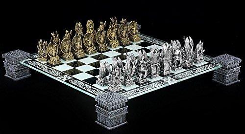 Fantasy Schach (Fantasy Schachspiel - Drachen Schach Schachfiguren Ritter)