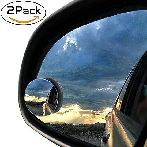 2pcs Car Blind Spot laterale specchio convesso 50 millimetri 2inch retrovisore 360 grandangolare regolabile rotonda Stick Rimless
